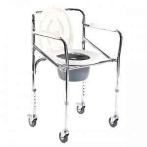 Krzesło toaletowe na kółkach