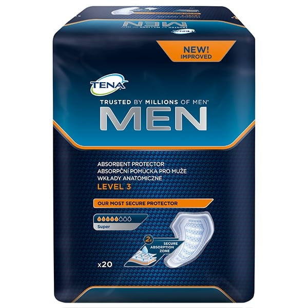 Wkłady Anatomiczne TENA Men Level 3