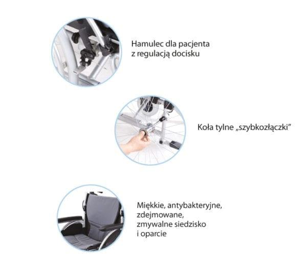Wózek inwalidzki aluminiowy ERGONOMIC AR 300 ARMEDICAL6