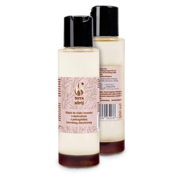 Olejek dwufazowy do ciała i masażu z połczyńską borowiną2